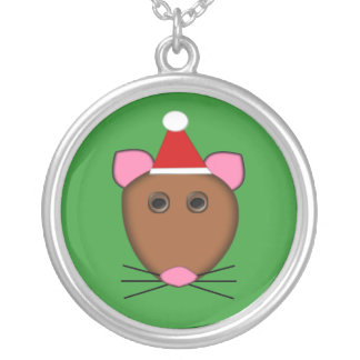 Merry Christmas Mouse Necklace