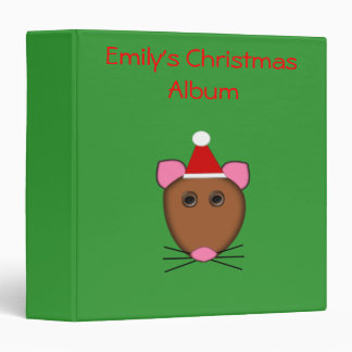 Merry Christmas Mouse Photograph Album Binder