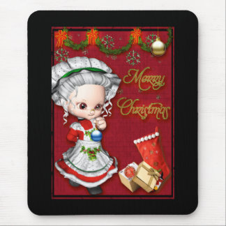 Merry Christmas Mrs Claus Mousepad