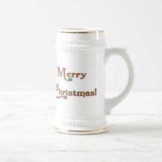 Merry Christmas 18 Oz Beer Stein