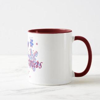 Merry christmas mug design Holiday greetings