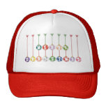 Merry Christmas Multicolored Glass Ball Ornaments Hats