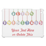 Merry Christmas Multicolored Glass Ball Ornaments Cover For The iPad Mini