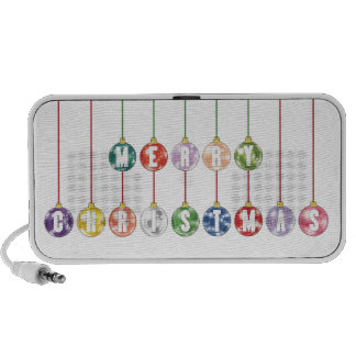 Merry Christmas Multicolored Glass Ball Ornaments Mini Speaker