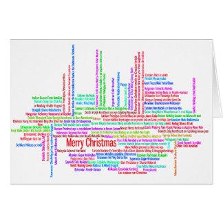 Merry Christmas Multilingual  Christmas Card