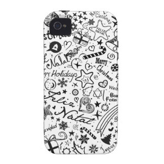 Merry Christmas Multiple Languages Vibe iPhone 4 Covers