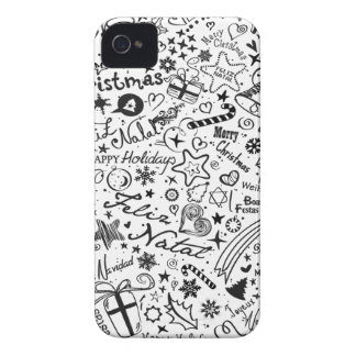 Merry Christmas Multiple Languages Case-Mate iPhone 4 Cases