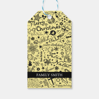 Merry Christmas Multiple Languages Gift Tags
