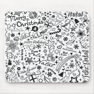 Merry Christmas Multiple Languages Mouse Pad