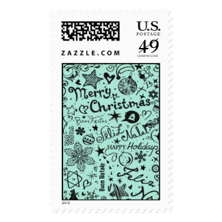 Merry Christmas Multiple Languages Postage