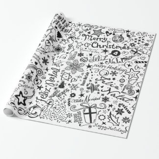 Merry Christmas Multiple Languages Wrapping Paper