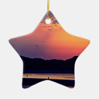 Merry Christmas - Murlough Beach Early Morning Ceramic Ornament