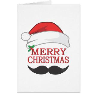 Merry Christmas Mustache Card