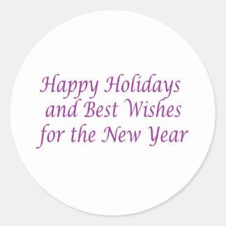 Merry Christmas n Happy New Year Classic Round Sticker