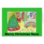 Merry Christmas Nana Greeting Card