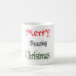 Merry Christmas, Naughty Sayings Typography Coffee Mug