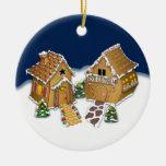 Merry Christmas Neighbor Double-Sided Ceramic Round Christmas Ornament