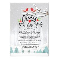 Merry Christmas New Year Holiday Party Celebration Invitation