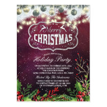 Merry Christmas New Year Holiday Party Celebration Postcard