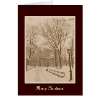 Merry Christmas - New York Central Park Snow Card
