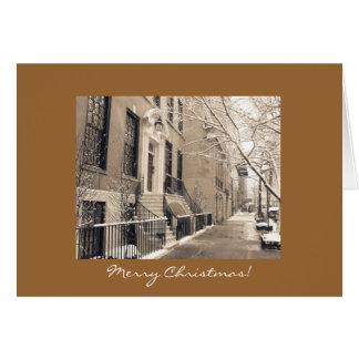 Merry Christmas - New York City Winter Snow Card