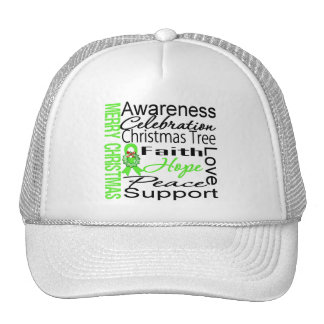 Merry Christmas Non-Hodgkins Lymphoma Ribbon Hats