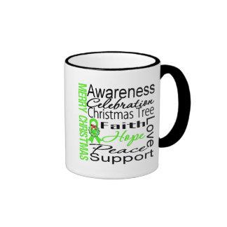 Merry Christmas Non-Hodgkins Lymphoma Ribbon Coffee Mugs