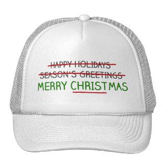 Merry Christmas, Not Season's Greetings Trucker Hat