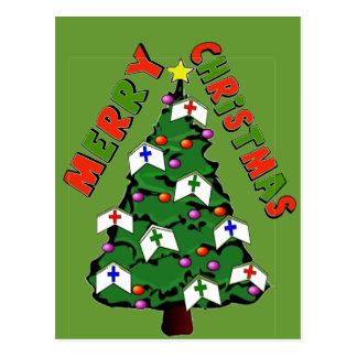 Merry Christmas Nurse Cap Tree Postcard