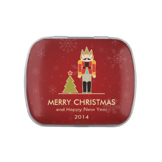 Merry Christmas - Nutcracker Holiday Greeting Jelly Belly Candy Tins