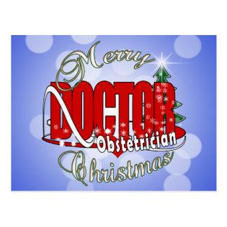 Merry CHRISTMAS Obstetrician Postcard