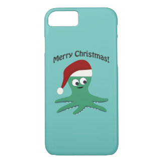 Merry Christmas Octopus iPhone 8/7 Case