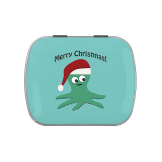 Merry Christmas Octopus Jelly Belly Tin