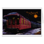 Merry Christmas Old time Train in the Snow Greeting Card