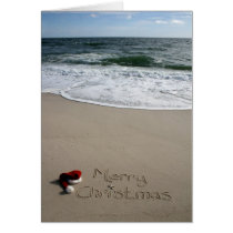 Merry Christmas on the Beach Ocean Starfish Card