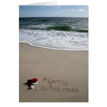 Beach Themed Merry Christmas on the Beach Ocean Starfish Card