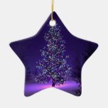 Merry Christmas Oranament Double-Sided Star Ceramic Christmas Ornament