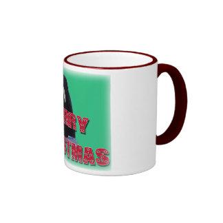 Merry Christmas Orca Whale Spy Hop Christmas Gifts Coffee Mugs
