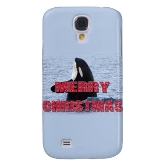 Merry Christmas Orca Whale Spy Hop Holiday Gifts Samsung Galaxy S4 Cases
