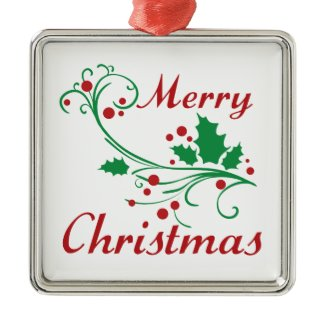 Merry Christmas Christmas Tree Ornament
