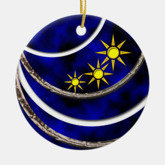 Merry Christmas Double-Sided Ceramic Round Christmas Ornament