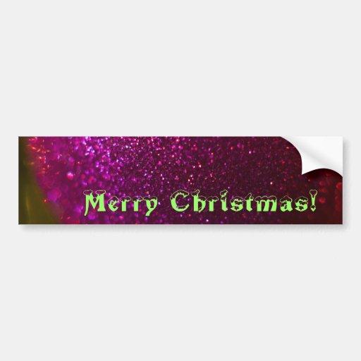 Merry Christmas Ornament 2 Bumper Sticker