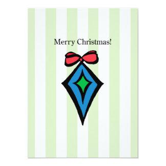 Merry Christmas Ornament 5.5 X 7.5 Invitation