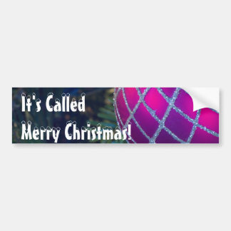 Merry Christmas Ornament Bumper Sticker