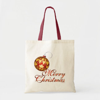 Merry Christmas - Ornament Canvas Bags
