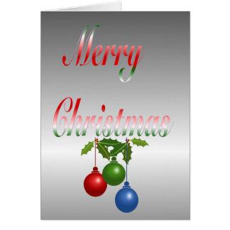 Merry Christmas Ornament Card