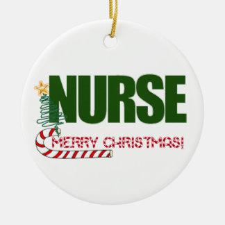 MERRY CHRISTMAS ORNAMENT - NURSE