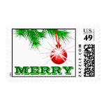 Merry Christmas Ornament Postage Stamp