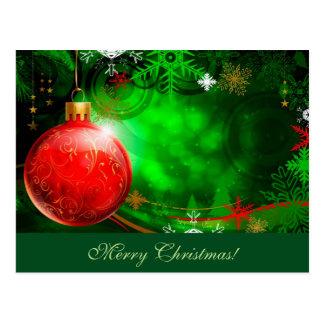 Merry Christmas Ornament Postcard