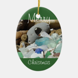 Merry Christmas ornaments custom Seaglass Fossils
